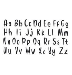 Set hand drawn alphabet font simple line vector