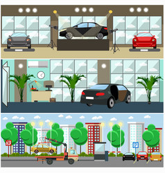 set of cars concept posters banners in vector image