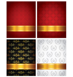 set of decorative backgrounds vector image