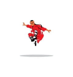 Shaolin monk veector sign vector image