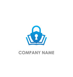 shield protect save key logo vector image