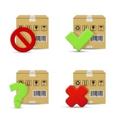 Shipment icons set vector