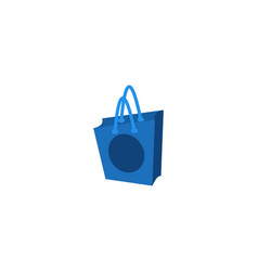 shopping bag logo design inspiration isolated on vector image