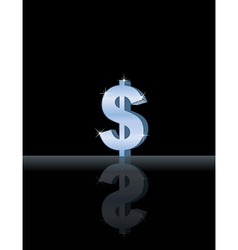 silver dollar vector image