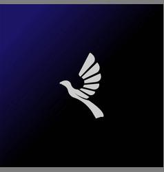 simple geometric flying bird eagle hawk phoenix vector image