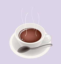 Smoking Hot Coffee vector image