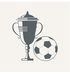 Soccer cup and ball vector