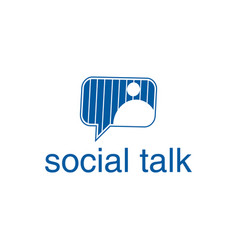 social chat talk logo design inspiration vector image