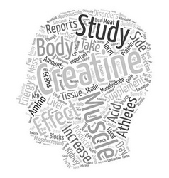 The Benefits and Side Effects of Creatine text vector image