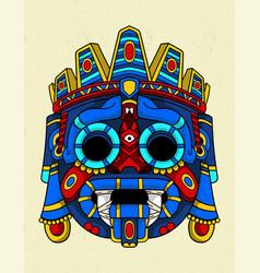 Tlaloc blue aztec vector