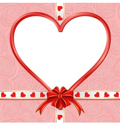 Valentine background with free space insert heart vector