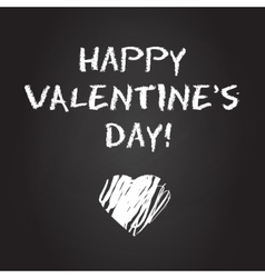 Valentines day chalboard background vector image