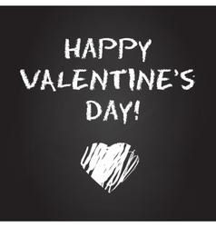 Valentines day chalboard background vector