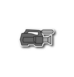 video camera patch vector image
