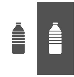 water bottle icon on black and white background vector image