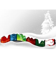 white christmas card vector image