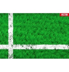 White line on Sport grass field vector