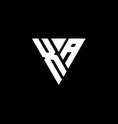Xa logo letter monogram with triangle shape vector