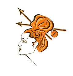 Zodiac sign of Sagittarius vector image