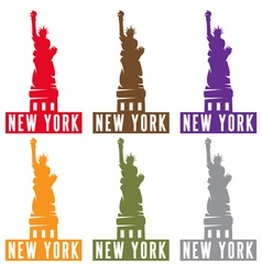 Liberty Statue in New York city design template vector image
