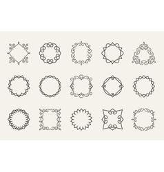 line emblems and badges frames for logo or vector image
