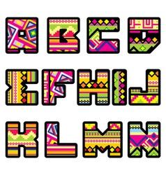 mexican alphabet part 1 vector image vector image