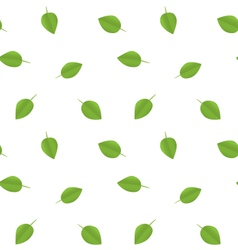 Seamless Ecology Pattern with Green Leaves vector image vector image