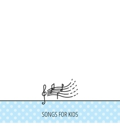 Songs for kids icon Musical notes melody sign vector image vector image