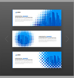 abstract corporate web banner slideshow template vector image