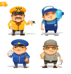 delivery service professions set vector image vector image