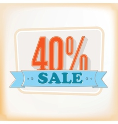 Discount labels 40 vector image