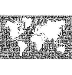 Earth maze map vector image