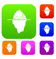 iceberg set collection vector image vector image
