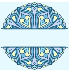 Rounded ornament vector image vector image