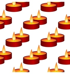 Seamless background from candles vector image