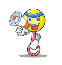 with megaphone rattle toy character cartoon vector image