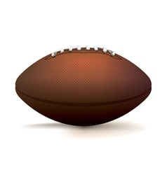 American Football Isolated on White vector image vector image