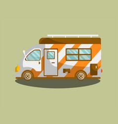 camping van trailer or motorhome flat icon vector image vector image