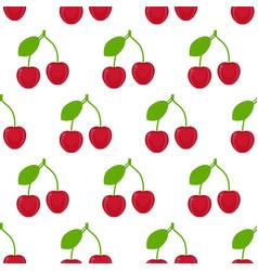 cherries seamless pattern vector image