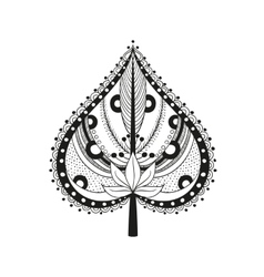 coloring adult ethnic leaf vector image vector image