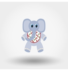 Elephant toy in the Bib vector image