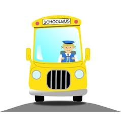 Female school bus driver vector