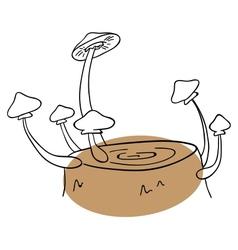 Honey agaric vector image