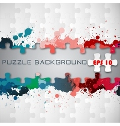 Puzzle background with splashes vector image