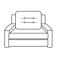 sofa armchair furniture image outline vector image