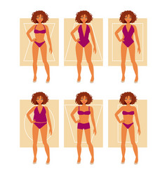 types of female figures vector image vector image