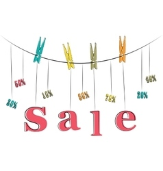 Word sale hanging on the rope vector image vector image