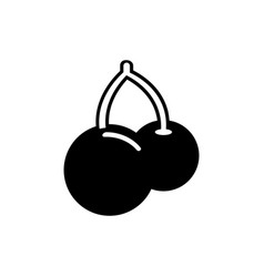 cherry twins icon in trendy flat style isolated on vector image vector image