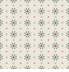 Clean Simple Black Floral Graphic Seamless Pattern vector image vector image