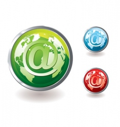 email icon world concept vector image vector image